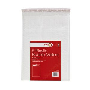 PPS Size 5 Plastic Bubble Mailer 32 Pack