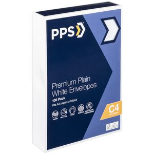 PPS Premium C4 Envelopes 100 Pack
