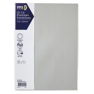 PPS C4 Printed Coloured Envelopes Zinc 10 Pack