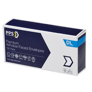 PPS Premium Window Face DL Envelopes 100 Pack
