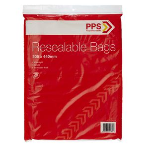 PPS 305 x 440mm Resealable Bags 25 Pack