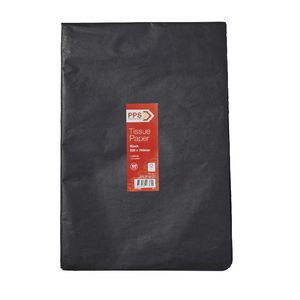 PPS Tissue Paper 500 x 750mm 100 Pack Black