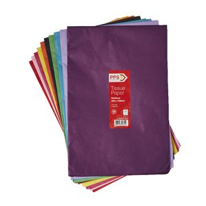 PPS Tissue Paper 500 x 750mm 100 Pack Rainbow