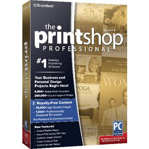 Broderbund Print Shop Professional 4 1 PC Box