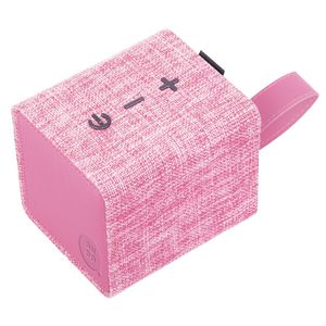 Qudo Fabric Bluetooth Speaker Pink