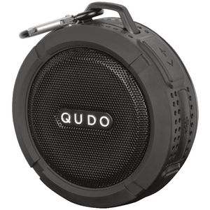 Qudo Splashproof Bluetooth Speaker Black