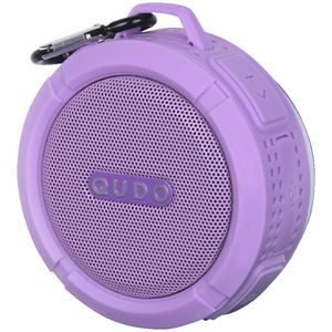 Qudo Splashproof Bluetooth Speaker Purple