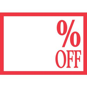 QuikStik % Off A4 Sign 10 Pack