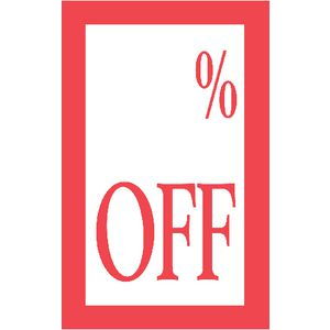 QuikStik % Off Display Tickets 10 Pack