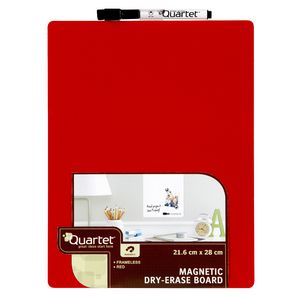 Quartet Magnetic Plain To-Do List Board Red