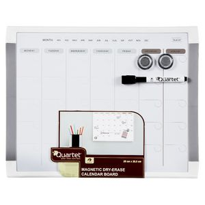 Quartet Basic Monthly Magnetic Planning Board 28 x 36cm White