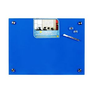 Quartet Premium Glass Board 450 x 600mm Blue
