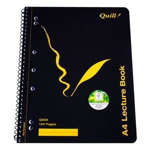 Quill A4 Spiral Lecture Book 140 Page