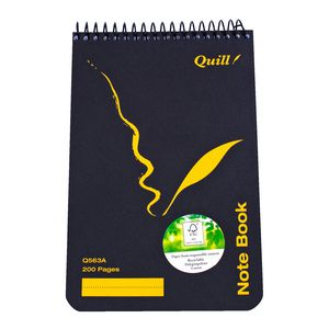 Quill Spiral Top Opening Notebook 200 x 127mm 200 Page