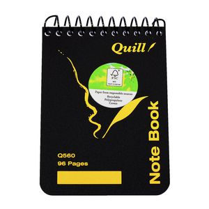 "Quill 5 x 3"" Spiral Pocket Notebook 96 Page"