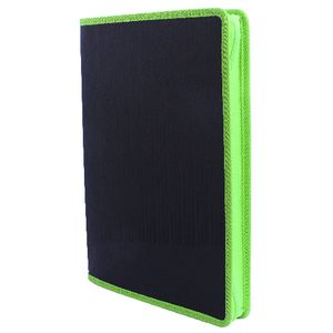 Document File A4 Zipper Box Black and Lime
