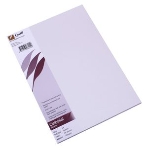 Quill Celestial Board 220gsm A4 Silver Rombo 25 Pack