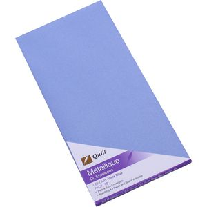 Quill Metallique DL Envelopes Vista Blue 10 Pack