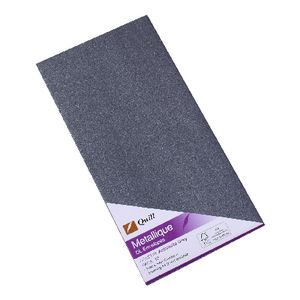 Quill Metallique DL Envelopes Anthracite Grey 10 Pack