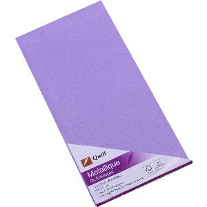 Quill Metallique DL Envelopes Amethyst 10 Pack