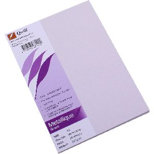Quill Metallique Board 285gsm A5 Moonstone 25 Pack