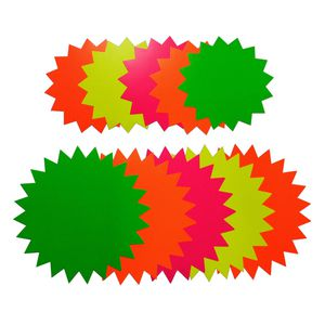 Quill Starburst 150mm Fluoro Board Shapes 60 Pack