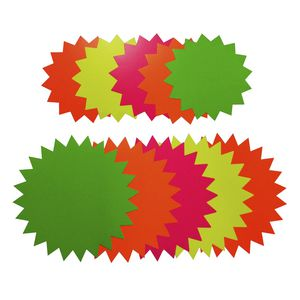 Quill Starburst 205mm Fluoro Board Shapes 60 Pack