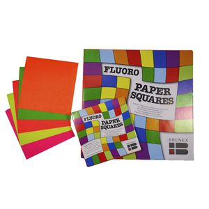 Brenex Paper Squares 127mm Fluoro Colours 360 Pack