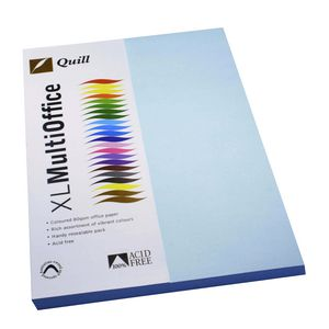 Quill Coloured Paper 80gsm A4 Powder Blue 100 Pack