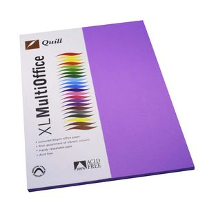 Quill Coloured Paper 80gsm A4 Lilac 100 Pack