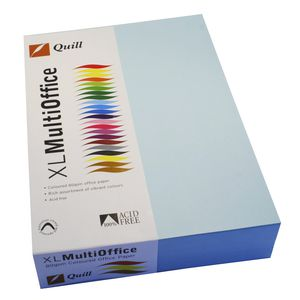 Quill Coloured Paper 80gsm A4 Powder Blue 500 Sheet Ream