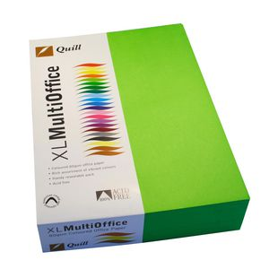 Quill Coloured Paper 80gsm A4 Lime 500 Sheet Ream