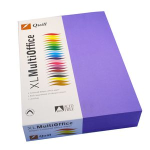Quill Coloured Paper 80gsm A4 Violet 500 Sheet Ream