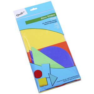 Quill Poster Board Gloss Shapes Assorted 100 Pack