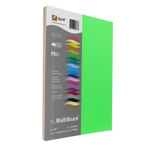 Quill XL MultiBoard 230gsm A4 Assorted Fluoro Colours 50 Pack