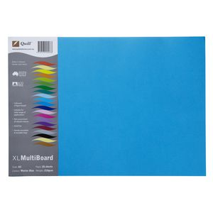 Quill XL Board 210gsm A3 Blue 25 Pack