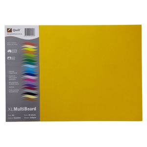 Quill XL Board 210gsm A3 Sunshine 25 Pack
