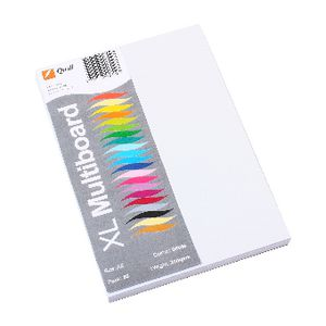 Quill XL MultiBoard 200gsm A5 White 50 Pack