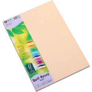 Quill XL MultiBoard 210gsm A5 Cream 50 Pack