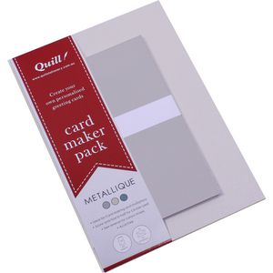 Quill Card Maker Metallic Assorted Pack of 25
