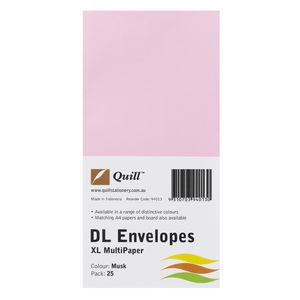 Quill Plainface DL Envelope Musk 25 Pack