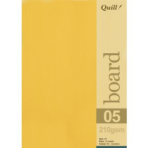 Quill A5 210gsm Board Sunshine 25 Pack