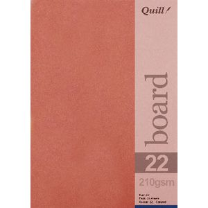 Quill A5 210gsm Board Caramel 25 Pack