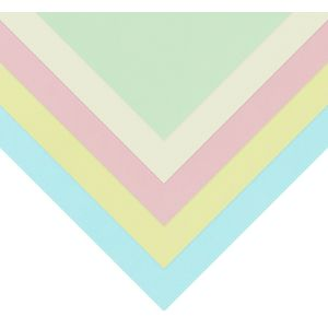 Quill A5 210gsm Board Pastel Assorted 25 Pack