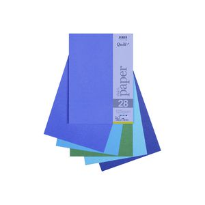 Quill A4 125gsm Paper Cold Assorted 25 Pack