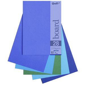 Quill A5 210gsm Board Cold Assorted 25 Pack