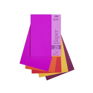 Quill A4 125gsm Paper Hot Assorted 25 Pack