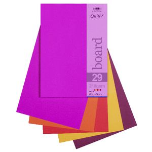 Quill A4 210gsm Board Hot Assorted 25 Pack