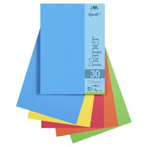 Quill A4 125gsm Paper Brights Assorted 25 Pack