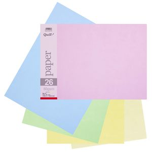 Quill A3 Paper Pastel Assorted 150 Pack